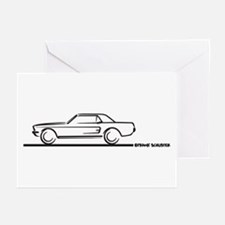 Mustang 67 and 68 Hardtop Greeting Cards (Pk of 10