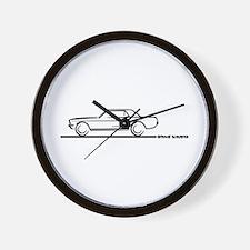 Mustang 67 and 68 Hardtop Wall Clock