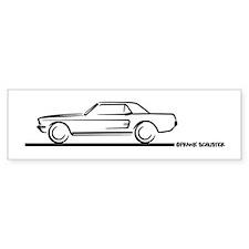 Mustang 67 and 68 Hardtop Bumper Bumper Sticker