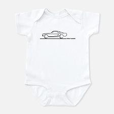 1967 1968 Mustang Fastback Infant Bodysuit