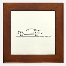 1967 1968 Mustang Fastback Framed Tile