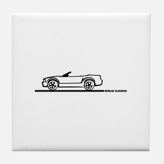 2005-2010 Mustang Convertible Tile Coaster