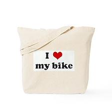 I Love my bike Tote Bag