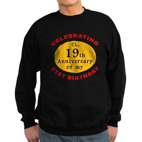 Celebrating 40th Birthday Sweatshirt (dark)