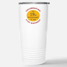Celebrating 40th Birthday Travel Mug