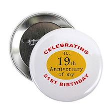 "Celebrating 40th Birthday 2.25"" Button"