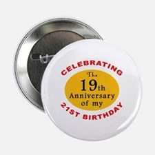 "Celebrating 40th Birthday 2.25"" Button"
