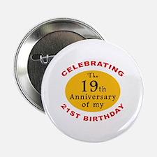 "Celebrating 40th Birthday 2.25"" Button (10 pack)"