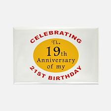 Celebrating 40th Birthday Rectangle Magnet