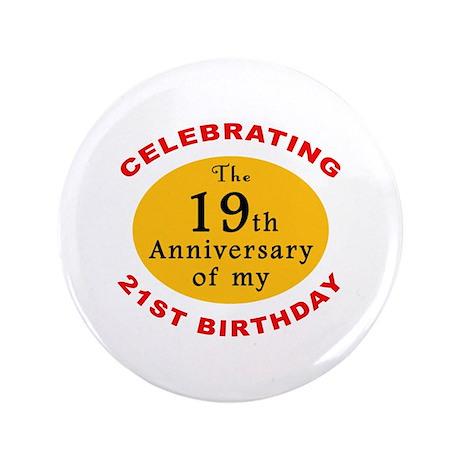 "Celebrating 40th Birthday 3.5"" Button (100 pack)"
