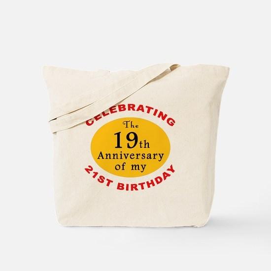 Celebrating 40th Birthday Tote Bag