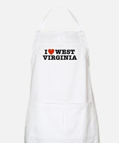 I Love West Virginia BBQ Apron