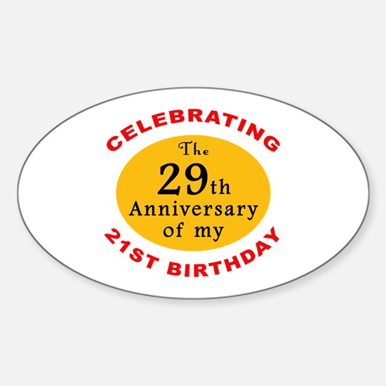 Celebrating 50th Birthday Oval Decal