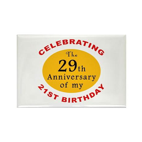 Celebrating 50th Birthday Rectangle Magnet
