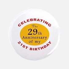 "Celebrating 50th Birthday 3.5"" Button"