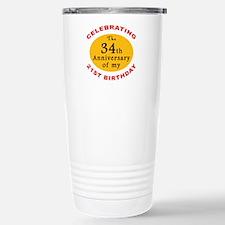Celebrating 55th Birthday Travel Mug