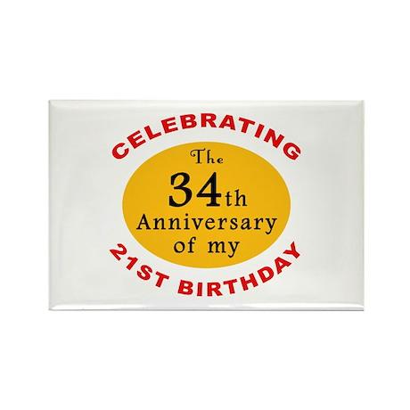 Celebrating 55th Birthday Rectangle Magnet (100 pa