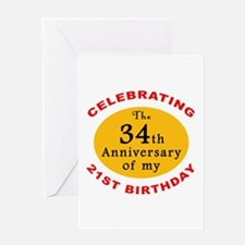 Celebrating 55th Birthday Greeting Card