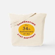 Celebrating 55th Birthday Tote Bag