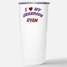 I Love My Grandson Ryan Stainless Steel Travel Mug