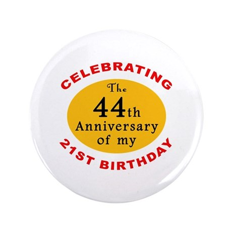 "Celebrating 65th Birthday 3.5"" Button"