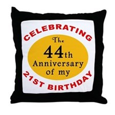 Celebrating 65th Birthday Throw Pillow