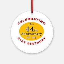 Celebrating 65th Birthday Ornament (Round)