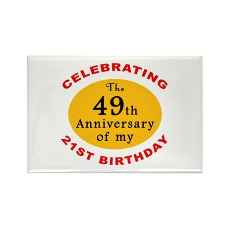 Celebrating 70th Birthday Rectangle Magnet (100 pa