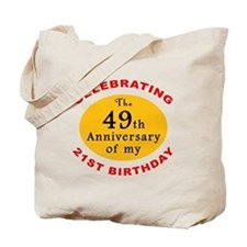 Celebrating 70th Birthday Tote Bag