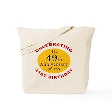 Celebrating 70th Birthday Tote Bag
