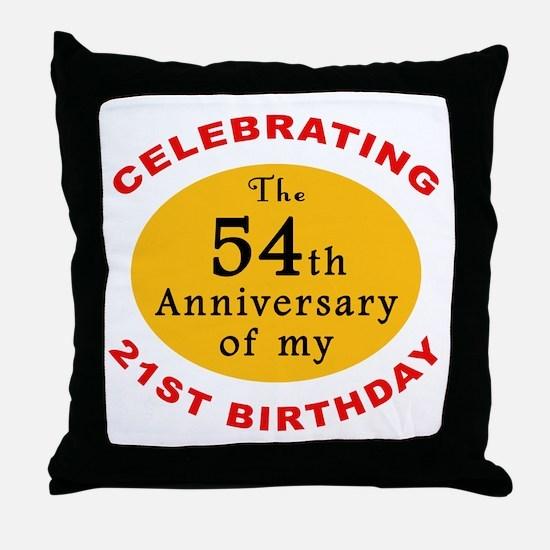 Celebrating 75th Birthday Throw Pillow