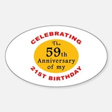 Celebrating 80th Birthday Oval Decal