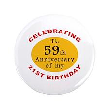 "Celebrating 80th Birthday 3.5"" Button"