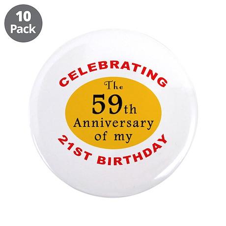 "Celebrating 80th Birthday 3.5"" Button (10 pack)"