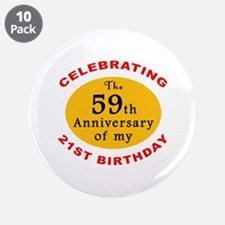 "Celebrating 80th Birthday 3.5"" Button (10 pack)"