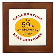 Celebrating 80th Birthday Framed Tile