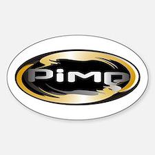 Pimp Oval Decal