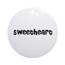 Sweetheart Ornament (Round)