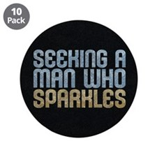 """Man Who Sparkles 3.5"""" Button (10 pack)"""