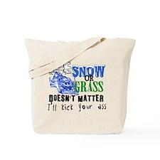 Ice, Snow or Grass - Snowmobile Racing Tote Bag