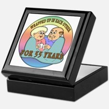 Cool 55th wedding anniversary Keepsake Box