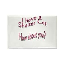 I Have a Shelter Cat Rectangle Magnet