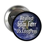 Re-elect Sam Farr to Congress button