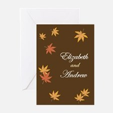 Fall Leaves on Mocha Wedding Invitation (Pk of 20)