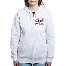 Breast Cancer Faith Zip Hoodie