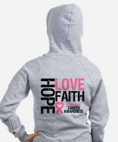 Breast Cancer Faith Zip Hoodie