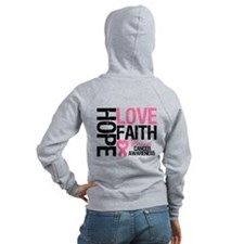 Breast Cancer Faith Zip Hoody