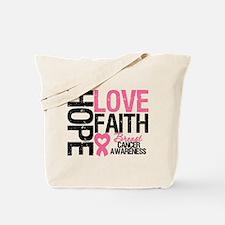 Breast Cancer Faith Tote Bag