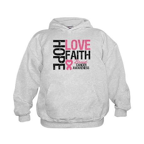 Breast Cancer Faith Kids Hoodie