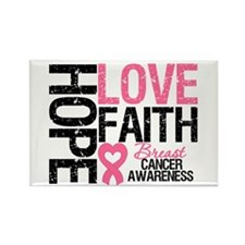 Breast Cancer Faith Rectangle Magnet (10 pack)